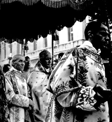 Seen a procession when he was Patriarch of Venice